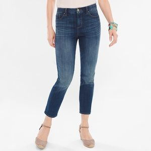 NWT CHICOS So Slimming Girlfriend Ankle Jean 0/4